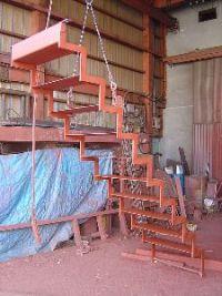 鉄骨階段の写真