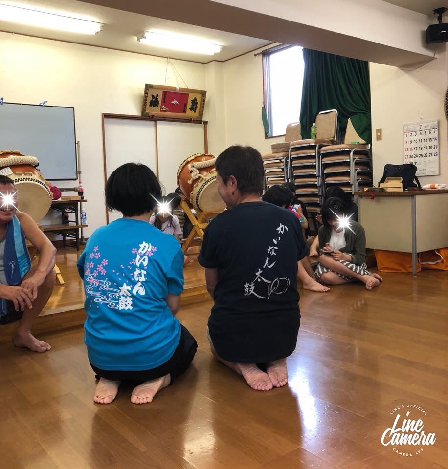 2018年海神南町会婦人会踊り練習風景
