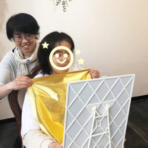 金と銀のドレープ