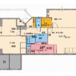 リビングの天井は4mあり気持ちの良い空間(間取)
